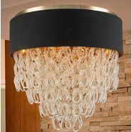 w33273cg24 Halo 9 Light Champagne Finish Ceiling Light