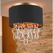 w33280mg12 Catena 3 Light Matte Gold Finish Ceiling Light Mount