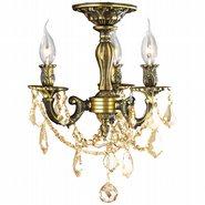 Windsor 3 light Antique Bronze Finish with Golden Teak Crystal Ceiling Light