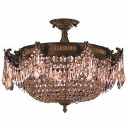 W33354B24-GT Winchester 4 Lights Antique Bronze Finish with Golden Teak Crystal Flush Mount