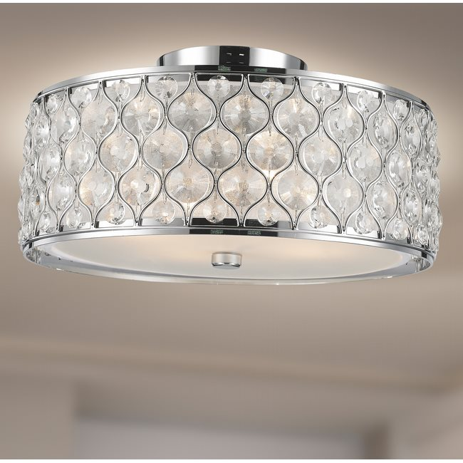w33410c16 Paris 4 Light Chrome Finish Ceiling Light