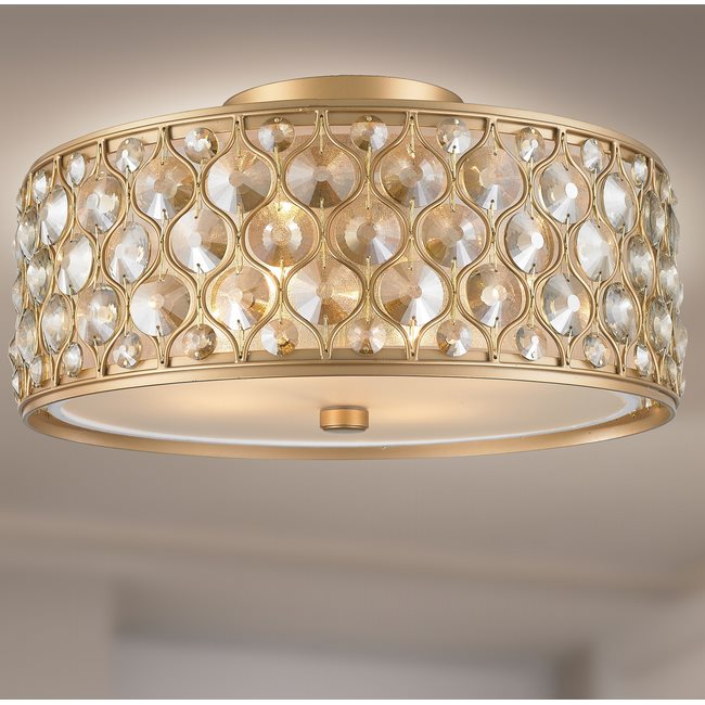 w33410mg16 Paris 4 Light Matte Gold Finish Ceiling Light