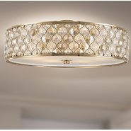 w33411cg24 Paris 6 Light Champagne Finish Ceiling Light