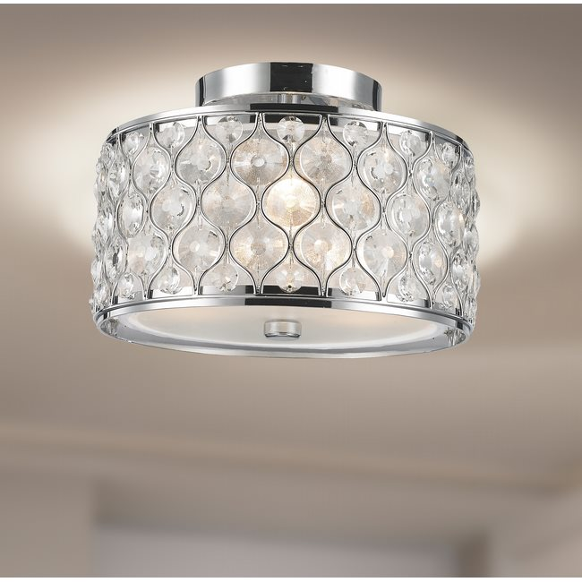 w33412c12 Paris 3 Light Chrome Finish Ceiling Light