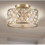 w33412cg12 Paris 3 Light Champagne Finish Ceiling Light