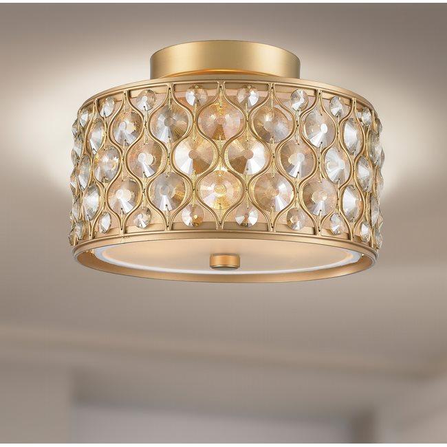w33412mg12 Paris 3 Light Matte Gold Finish Ceiling Light