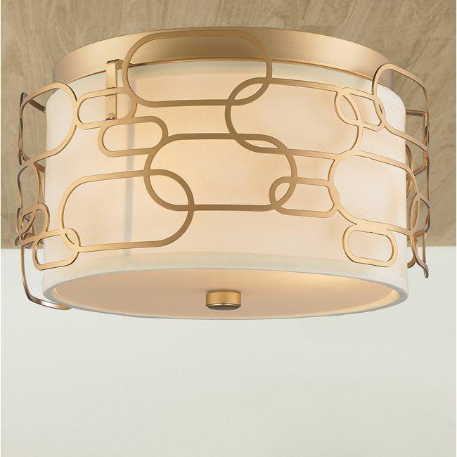 w33440mg14 Montauk 3 Light Matte Gold Finish Ceiling Light