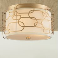 w33440mg14 Montauk 3 Light Matte Gold Finish Ceiling Light