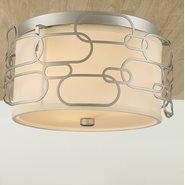 Montauk 3 Light Matte Nickel Finish Ceiling Light