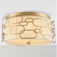 w33441mg16 Montauk 4 Light Matte Gold Finish Ceiling Light