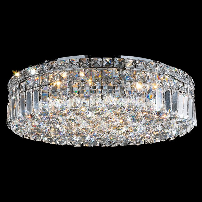 W33508c20 cascade 6 light chrome finish and clear crystal flush w33508c20 cascade 6 light chrome finish and clear crystal flush mount ceiling light aloadofball Choice Image