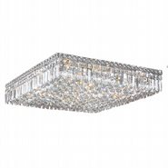 Cascade Collection 13 Light Chrome Finish and Clear Crystal Flush Mount Ceiling Light