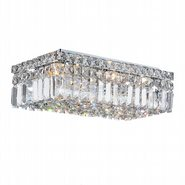 Cascade 4 Light Chrome Finish with Clear Crystal Ceiling Light