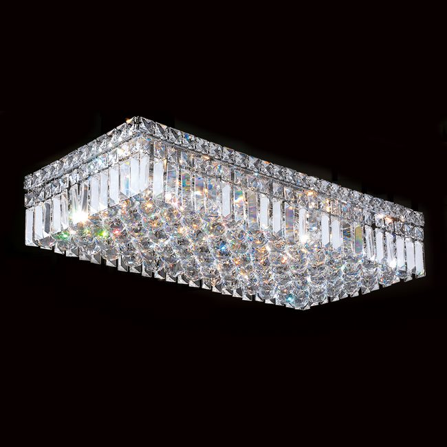 W33530C24 Cascade 6 Light Chrome Finish and Clear Crystal Flush ...