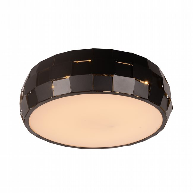 W33541MB15 Mosaic Matte Black Opal (Acrylic) Ceiling Light, LEDx24W, 3500K - Discontinued