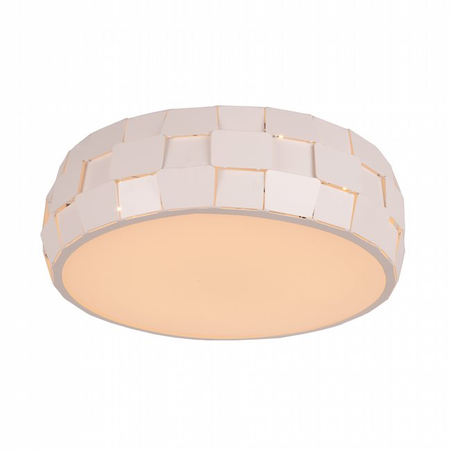 W33541MW15 Mosaic Matte White Opal (Acrylic) Ceiling Light, LEDx24W, 3500K,