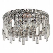 W33605C12 Cascade 4 Light Chrome Finish with Clear Crystal Ceiling Light