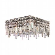 W33616C12 Cascade 4 Light Chrome Finish with Clear Crystal Ceiling Light