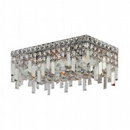 W33628C16 Cascade 4 Light Chrome Finish and Clear Crystal Flush Mount Ceiling Light
