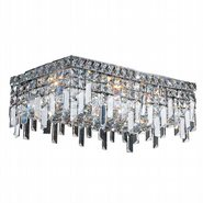 W33629C20 Cascade 4 Light Chrome Finish with Clear Crystal Ceiling Light