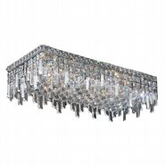 W33630C24 Cascade 6 Light Chrome Finish with Clear Crystal Ceiling Light