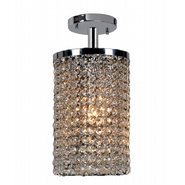 W33743C6 Prism 1 light Chrome Finish with Clear Crystal Ceiling Light