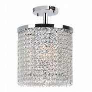 W33744C10 Prism 3 Light Chrome Finish with Clear Crystal Ceiling Light - Discontinued