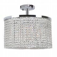 W33746C20 Prism 9 light Chrome Finish with Clear Crystal Ceiling Light