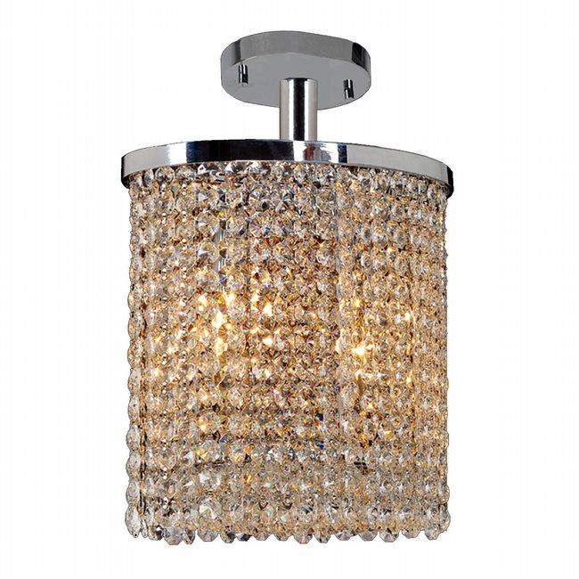 W33762C10 Prism 2 Light Chrome Finish Crystal String Semi Flush Mount Ceiling Light - Discontinued