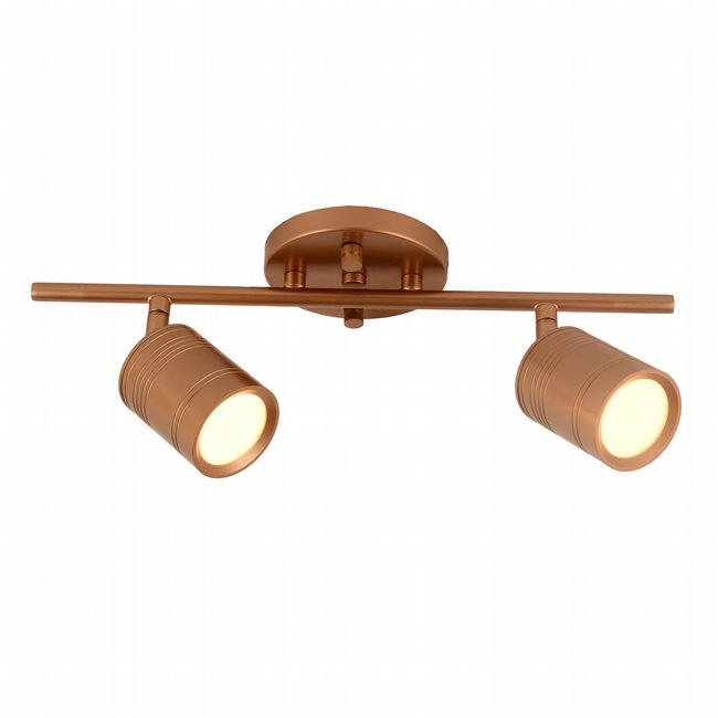 w33802mg15 Campbell 2 Light Matte Gold Finish LED Ceiling Light