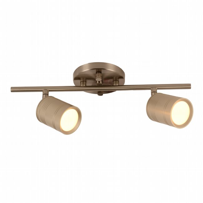 w33802mn15 Campbell 2 Light Matte Nickel Finish LED Ceiling Light