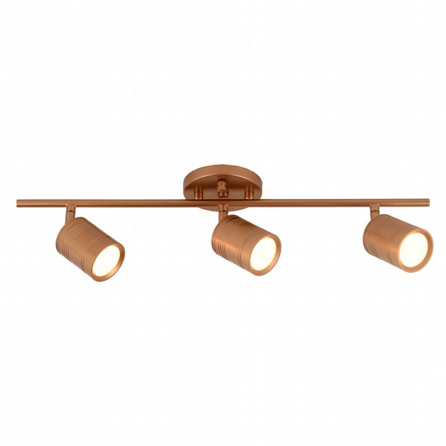 w33803mg27 Campbell 3 Light Matte Gold Finish LED Ceiling Light
