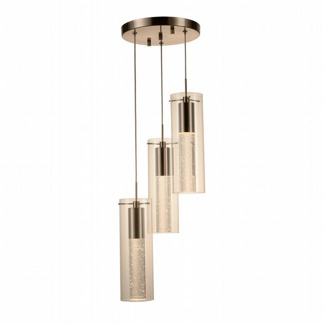 w33807mn10 Sprite 3 Light Matte Nickel Finish LED Ceiling Light