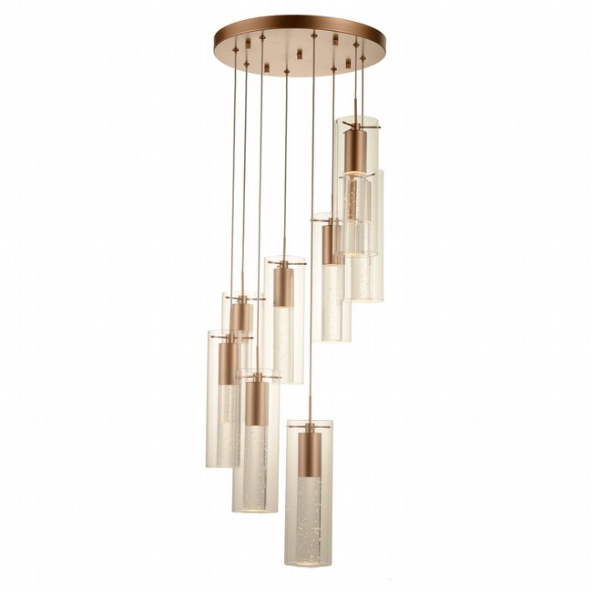 w33809mg16 Sprite 8 Light Matte Gold Finish LED Ceiling Light