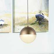 w33811mg4 Phantasm 1 Light Matte Gold Finish LED Ceiling Light