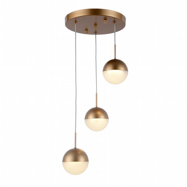 w33812mg10 Phantasm 3 Light Matte Gold Finish LED Ceiling Light