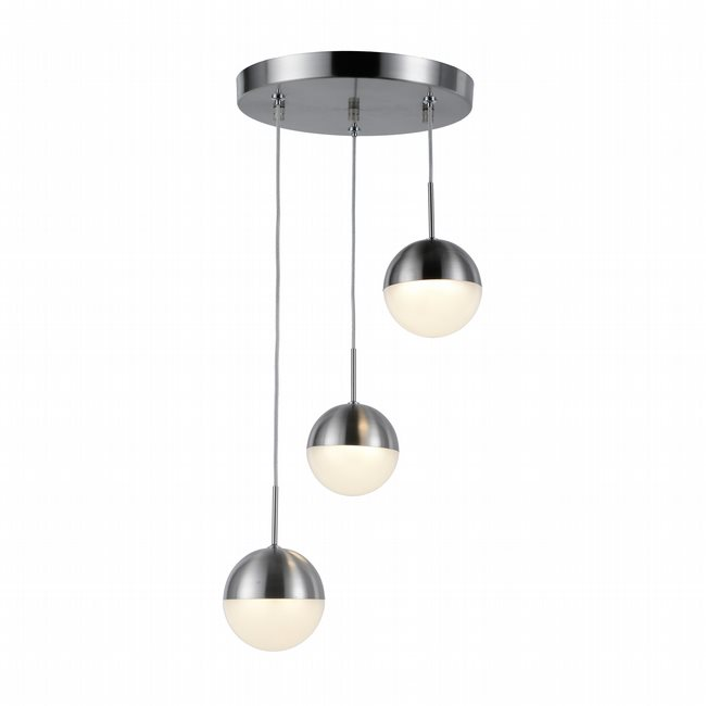 w33812mn10 Phantasm 3 Light Matte Nickel Finish LED Ceiling Light