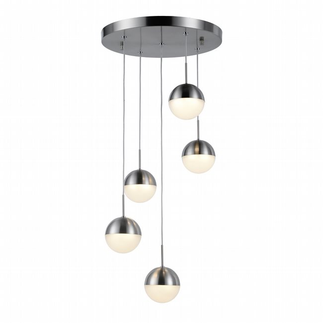 w33814mn14 Phantasm 5 Light Matte Nickel Finish LED Ceiling Light