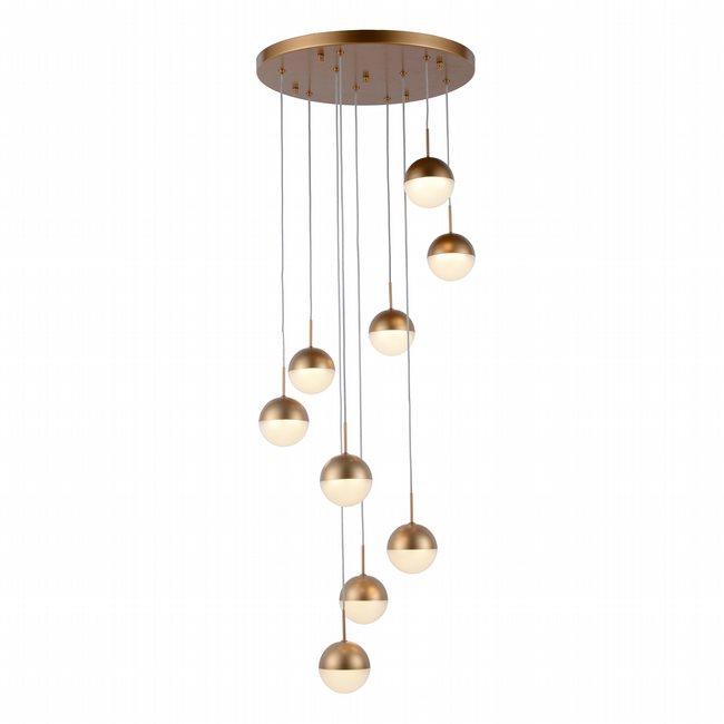 w33815mg18 Phantasm 9 Light Matte Gold Finish LED Ceiling Light