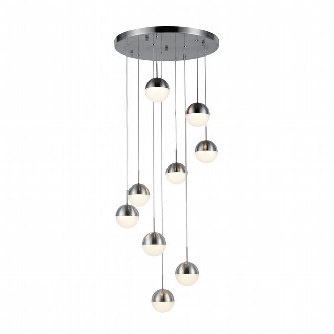w33815mn18 Phantasm 9 Light Matte Nickel Finish LED Ceiling Light
