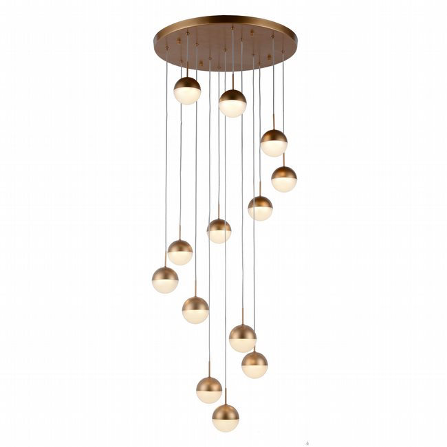 w33816mg22 Phantasm 13 Light Matte Gold Finish LED Ceiling Light