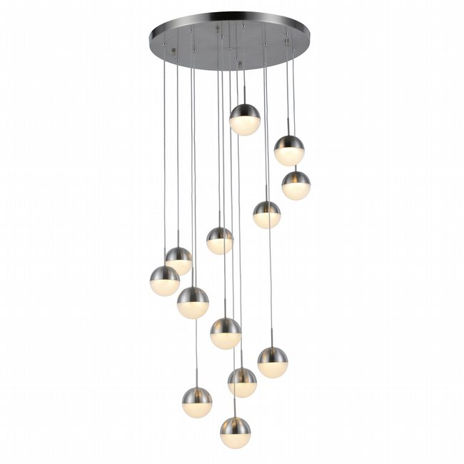 w33816mn22 Phantasm 13 Light Matte Nickel Finish LED Ceiling Light