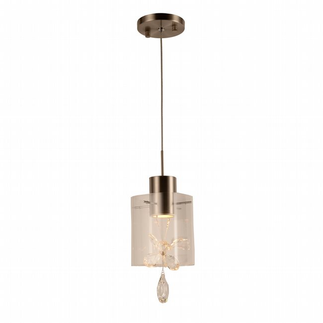 w33817mn5 Papillon 1 Light Matte Nickel Finish LED Ceiling Light