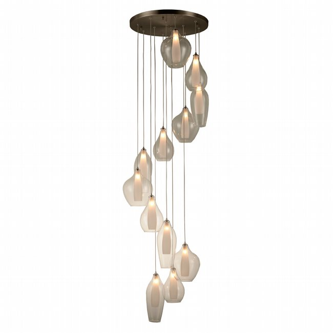 w33829mn25 Botella 12 Light Matte Nickel Finish G9 Ceiling Light
