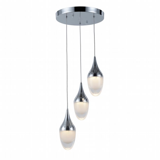 w33835c11 Droplet 3 Light Chrome Finish G9 Ceiling Light