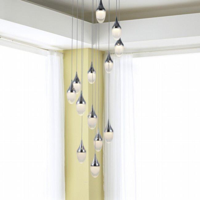 w33839c22 Droplet 1 Light Chrome Finish LED Ceiling Light