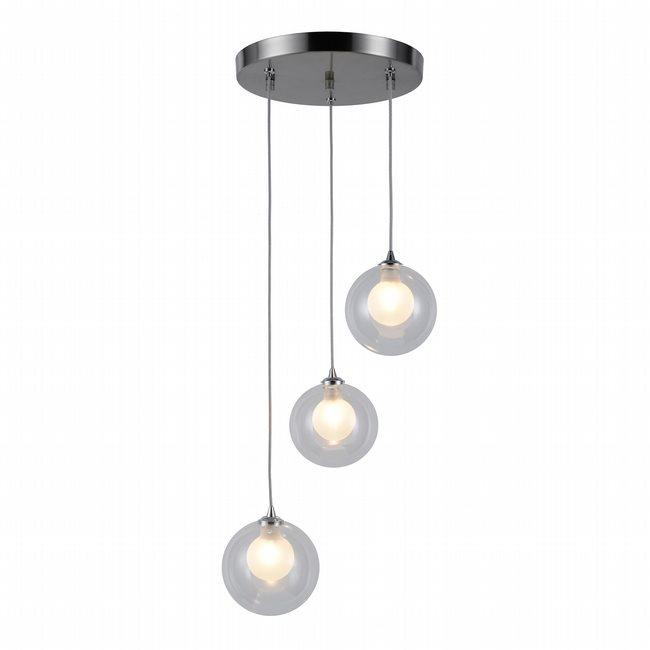 w33849mn9 Moulin 3 Light Brushed Nickel Finish G9 Ceiling Light