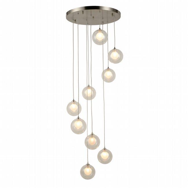 w33852mn18 Moulin 9 Light Brushed Nickel Finish G9 Ceiling Light