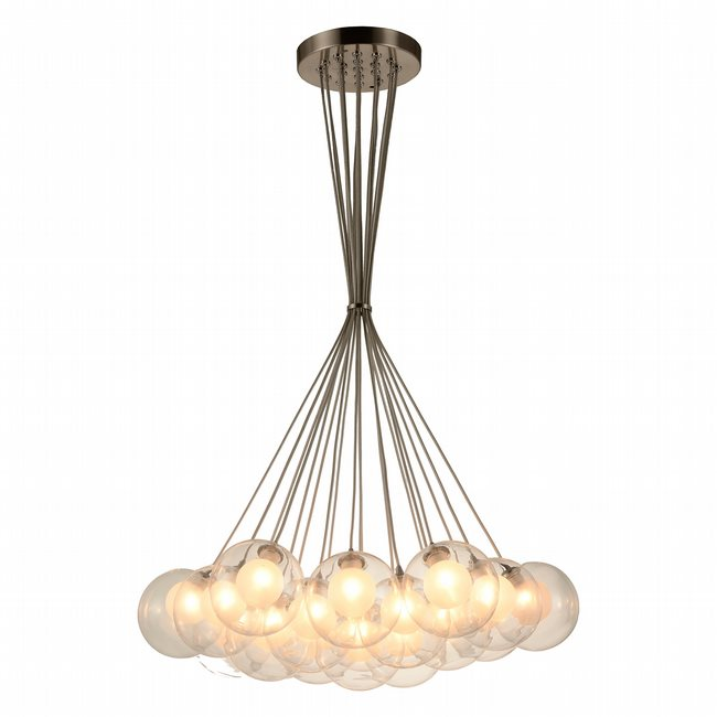 w33855mn23 Moulin 19 Light Brushed Nickel Finish G9 Ceiling Light