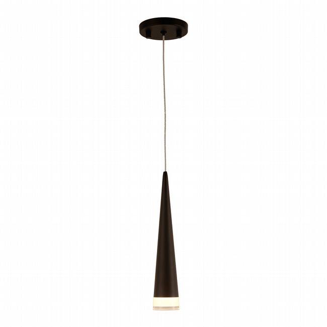 w33856mb4 Pinnacle 1 Light Matte Black Finish LED Ceiling Light